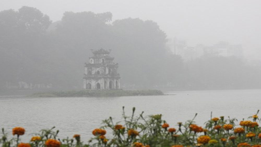 Ngày 18-3, Hà Nội có sương mù và mưa phùn nhiều nơi